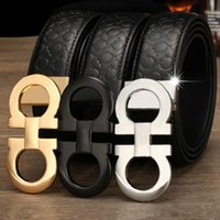 fashion designer men' s Genuine Leather belt male High q...
