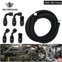 PQY - 0/45 / 90degree Slang Adaptrar Aluminiumslang Avsluta -6 En Rostfritt Stål Oljebränsle Slang Linje 3 Meter Oljekylare An6