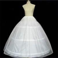 Sıcak Satış Gelin Petticoat Beyaz Üç Hoop Yüksek Kalite Stokta Balo Crinoline Moda Düğün Aksesuarları Petticoats