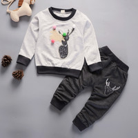 good quality baby boys girls spring cartoon clothes sets inf...