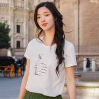 Inman 2019 Summer Women Shirt All Matched T Shirt Women Roun...