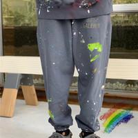 Vintage Sweatpants Kadın Erkek 1 Yüksek Kaliteli Pantolon İpli Koşucular Sweatpants
