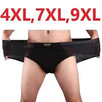4XL, 7XL, 9XL Solid Briefs Mens Bamboo Fiber Underwear Male Pa...