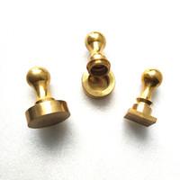 Sigillo di cera per timbri in ottone quadrato e rotondo personalizzato e tampone di inchiostro da 26 mm a 60 mm