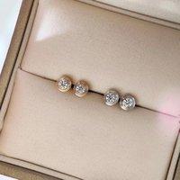 """Mode-S925 amour argent dormeuses avec 0,8"""" diamant sparky pour la mère et les femmes bijoux boucle d'oreille Envoi gratuit PS5731"""