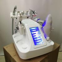 Neue 8 in1 Aqua Peel Wasser Hydrafacial Dermabrasion Haut Tiefenreinigung LED PDT Maske Sauerstoff Jet Cold Hammer BIO Facelift Ultraschallgerät