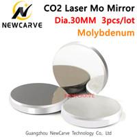 30mm قطرها مو CO2 ليزر مرآة عالية نقل الموليبدينوم مرآة ليزر CO2 آلة نقش NEWCARVE