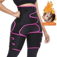 Caloreduce Neopren İnce Uyluk Giyotin Bacak Shaper Kadınlar Karın Kontrol Yüksek Bel Trainer Sauna Etkisi Shapewear Butt kaldırıcı Kemer T200526