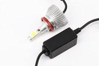 2PCS H11 LED كوب السيارات العلوي للمصابيح الأمامية الضباب ضوء التحويل لمبة ضوء 60W