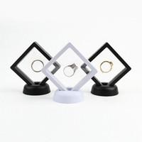Flutuante jóias caixa de exibição caixa de exibição de exposição de pingente stand suspendido moedas de jóias gemas caixas de embalagem sem pedestal ffa3143-3