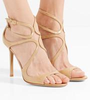 Robe de luxe mariage Concepteurs Sandales de haute qualité femmes chaussures sexy Sandales J Lance Modèle Pompes Party Top cadeau avec la boîte