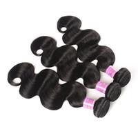 El cabello humano virginal brasileño de los colores naturales teje el estilo de la onda del cuerpo 8-30 pulgadas tramas del pelo sin procesar DHL libre