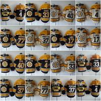 Boston Bruins Felpe con cappuccio Maglie 4 Bobby Orr 33 Zdeno Chara 37 Patrice 77 Ray Bourque 63 Brad Marchand 17 Milan Hockey Hooded Sweats