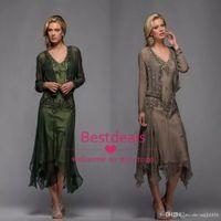 2020 Scala Tea Length Mother of the Bride платья с аппликацией и бисером V образным вырезом A Line вечерние платья с бесплатным Болеро vestidos de novia