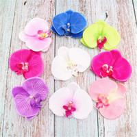 가짜 나비 난초 꽃 머리 9 센치 메터 * 10 센치 메터 시뮬레이션 호 접 DIY 신부 꽃다발 배경 벽 액세서리