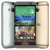 تم تجديده الأصل HTC واحدة M8 الولايات المتحدة الاتحاد الأوروبي 5.0 بوصة رباعية النواة 2GB RAM 16 / 32GB ROM WIFI GPS 4G LTE مفتوح الروبوت الهاتف الخليوي الذكية DHL الشحن 1pcs
