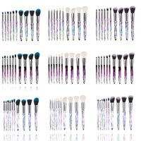 Makeup brush Newest Crystal 10 pcs set Diamond Crystal Handl...