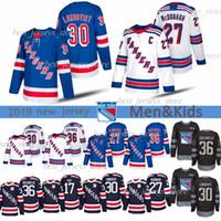 30 Henrik Lundqvist 36 Mats Zuccarello 27 Ryan McDonagh New York Rangers 93 Mika Zibanejad 61 Rick Nash Eishockey Trikots