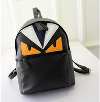 Multi Color Backpack Pu Little Monster Cartoon Male Female S...