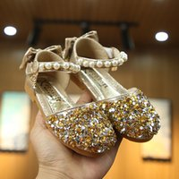 Baby Shoes Casual Fashion Baby Girls Shoe Pearls Bling Sequi...
