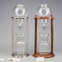 600ml 1000ml Fria Brew Drip Cafeteira filtro reutilizável Vidro Ferramentas Espresso Dripper Coffee Pot Água de gelo Drip Coffee Machine