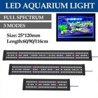 방수 LED 수족관 조명 수조 라이트 바 블루 90분의 60 / 116CM 잠수정 수중 클립 램프 수생 장식