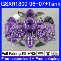 1 Set per Suzuki Hayabusa GSXR-1300 03 04 05 2006 2007 333hm.2AA Fiamme viola GSXR1300 96 GSXR 1300 2002 2003 2004 2005 06 07 Fairing + Tank