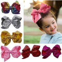 18cm Baby Sequins Large Barrettes Kids Bow Hairpin Hair Clip...