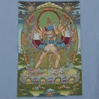 مصنع بروكيد المباشر الرسم الحرير والتطريز الرسم التبت بوذا الثانغكا تانكا التانترا كينغ كونغ