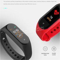 الملونة m4 الأساور اللياقة البدنية سوار الذكية المضادة للخسارة عداد الخطى smartwatch القلب معدل ضربات القلب ضغط الدم moniter pk m2 m3
