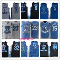 NCAA North Carolina Tar Taroudrans 5 Nassir Little 32 Luke Maye 15 Carter 23 Michael 44 Jackson College Blue Basketball Jerseys Jerseys Logos cousus