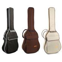 أزعج حقيبة ل 41 inch الغيتار الصوتية 10MM مبطن لينة شل حالة جيب كبير