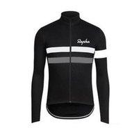 Hombre rapha pro equipo ciclismo manga larga jersey mtb camisa de bicicleta al aire libre ropa deportiva transpirable rápido seco rops tops carretera ropa de bicicleta Y21042105