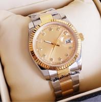 2020 Nueva llegada 36mm 41mm amantes relojes de diamantes para hombre de las mujeres del oro de pulsera automático de caras diseñador del reloj de señoras