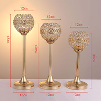 Neue Art runde Kristallvotivkerzenhalter / Glaskerzenglas mit Deckel Kandelaber-hohen Hochzeits-Mittelstücken best0783