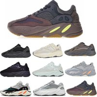 Kanye West 700 Wave Runner Zapatillas de running para hombre Mujer 700s V2 Static Sports Sneakers Mauve Solid Grey Luxury Designer Shoes Tamaño 36-46