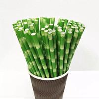 All'ingrosso di alta qualità 19,7 centimetri a gettare Tè della bolla spessa di bambù di carta beventi Per Bar festa nuziale di compleanno paglia