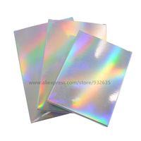 50 piezas caja de papel de fiesta holográfica caja de tarjeta láser cajas de cartón cajas de regalo paquete de cosméticos cajas de dulces favor de boda