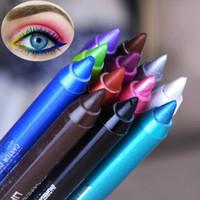 حار 12 قطع الأسود طويل الأمد العين اينر قلم كحل للماء لطخة التجميل ماكياج التجميل السائل 12 الألوان