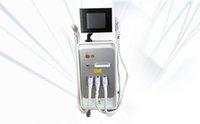 Nova chegada e luz SHR IPL depilação a / e-luz RF IPL máquina de beleza + nd yag laser multifuncional