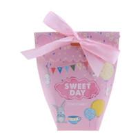 Candy Box 50pcs açúcar bolo de casamento caixa favor do presente do chá Casamento do bebê Embalagem do partido do evento Supplies 120x60x48mm