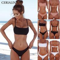 جديدة الصلبة البدلة مثير بيكيني مجموعة النساء السباحة الموضة ملابس السباحة اثنين من قطعة ملابس السباحة البدلة أنثى Biquini زائد الحجم XL مجموعات