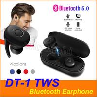 DT1 DT1 TWS 미니 블루투스 V5.0 이어폰 무선 이어폰 진정한 스테레오 스포츠 헤드폰 헤드셋 이어폰 + 충전 상자 4 색 컬러 풀 한