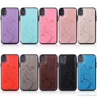 Kelebek Kabartmalı Deri Kılıf iphone XS MAX XR X Kapak 6 6 S 7 8 Artı Geri Kılıfları Ile Kart Cep Tam Koruyun