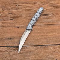 Высокое качество EDC карманный складной нож 440C сатин лезвия G10 + нержавеющая сталь лист ручки на открытом воздухе кемпинга Походные Спасательные Ножи