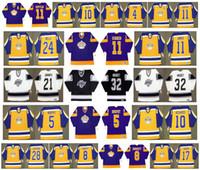 فينتيج لوس أنجلوس كينجز جيرزي 10 RICK MARTIN 4 JERRY KORAB 11 Anze Kopitar 28 STEVE DUCHESNE 8 Drew Doughty 17 Jimmy Carson Retro Hockey