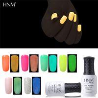 HNM 8ML Night Glow In Dark Lack Lacke Soak-off UV-LED-Nagel-Gel Fluorescent Neon leuchtende Farben Hybrid Nagellack Gellak