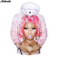 Aikooki новой Продажи Nicki Minaj 3D Толстовка Мужчина / Женщины моды Популярного asual Hip Hop 3D балахон Печать Nicki Minaj Кофта вершина