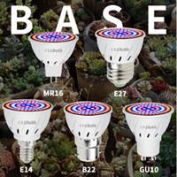 Led B22 idroponica crescita E27 principali coltivano MR16 Spectrum 220V completo della lampada UV pianta E14 Fiore semenzaio Fitolamp GU10
