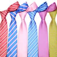 46 اللون بيع 7 سنتيمتر الرجال العلاقات البوليستر اللطخة المشارب منقطة الأزياء ربطة الرجل اكسسوارات التعادل حفلة موسيقية مصنع الزفاف